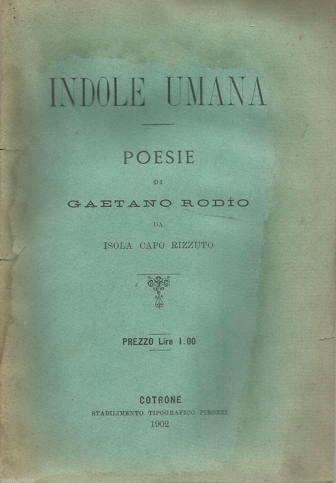 Libro poesie Rodio