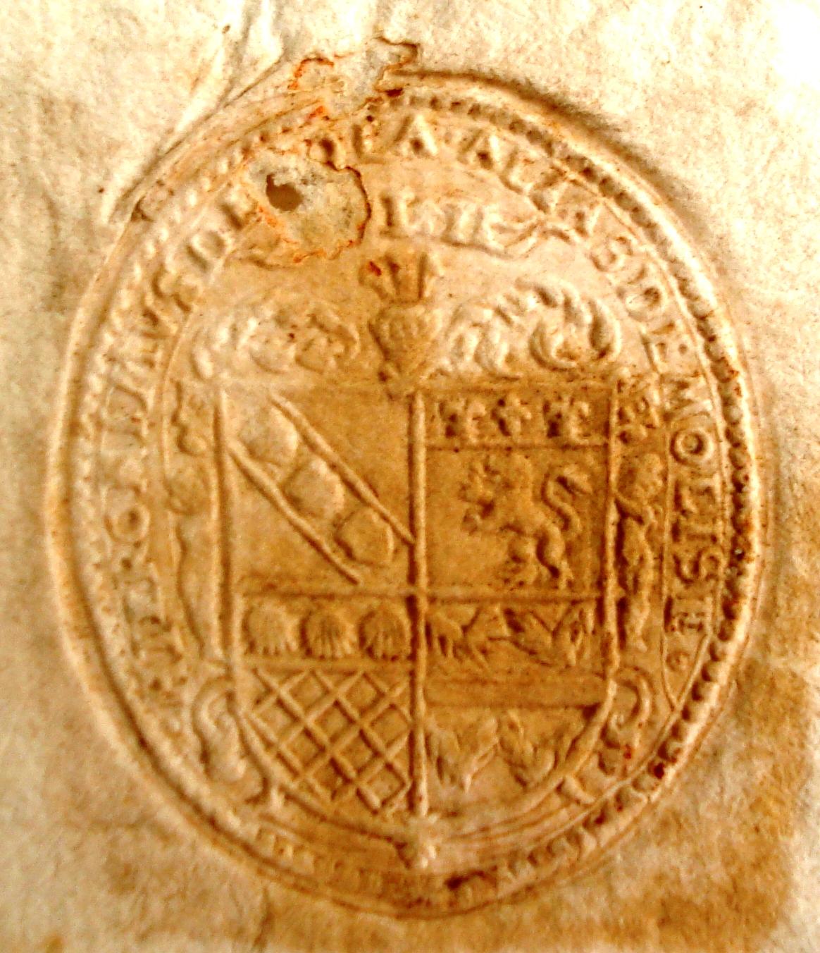 sigillo di Ieronimus de Nola alias De Molise