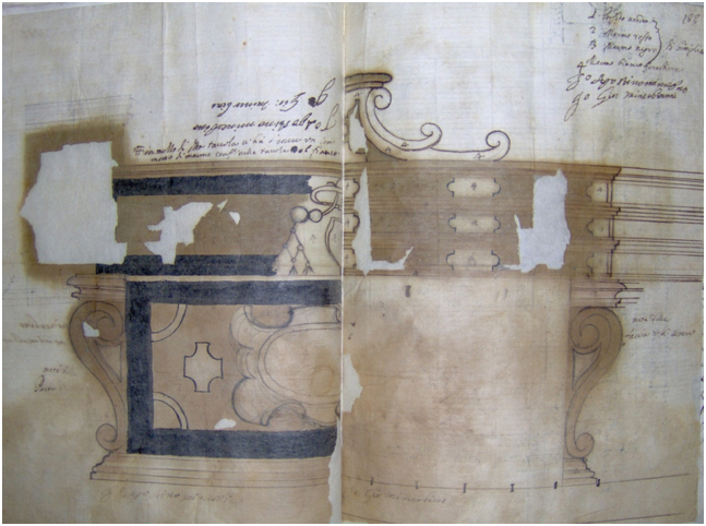 disegno altare S. Severina