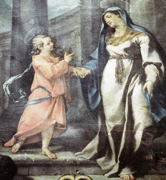 Dipinto di Nicola Lapiccola Gesù di ritorno dai dottori