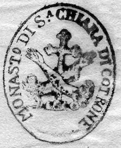 Crotone. Sigillo del monastero delle Clarisse