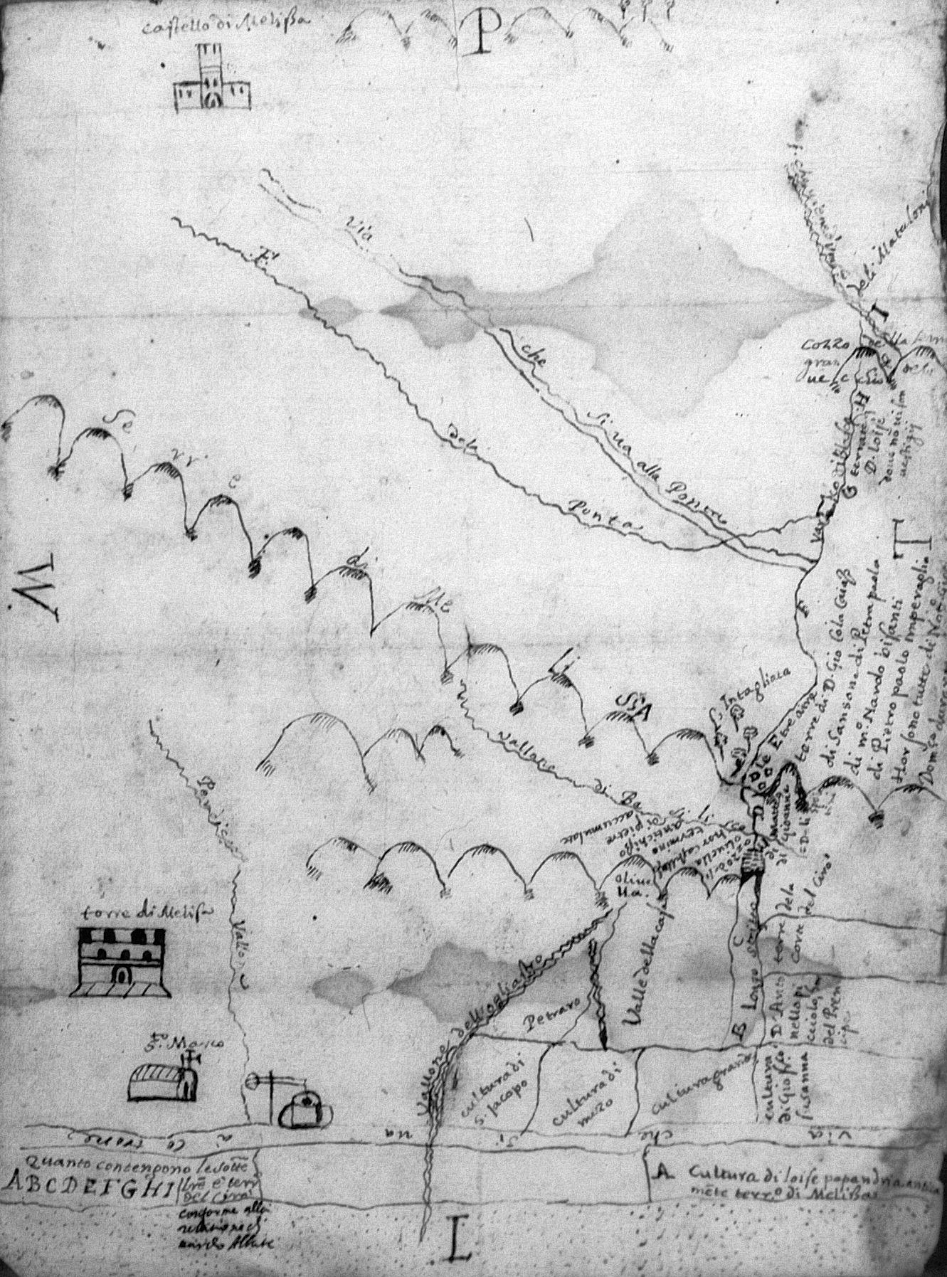 La torre di Melissa e la chiesa di S. Marco