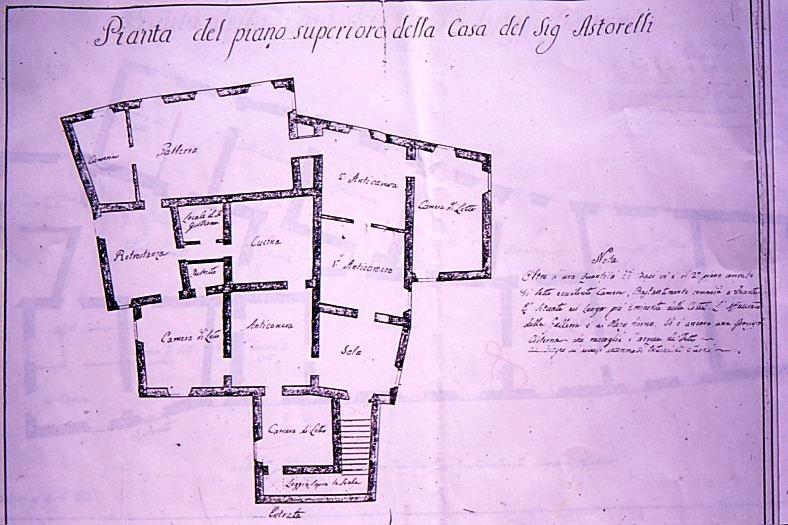 Pianta del palazzo (sec. XVIII)