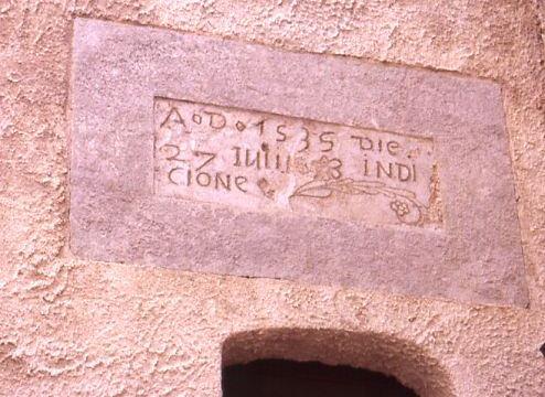 Santa Severina castello graffito