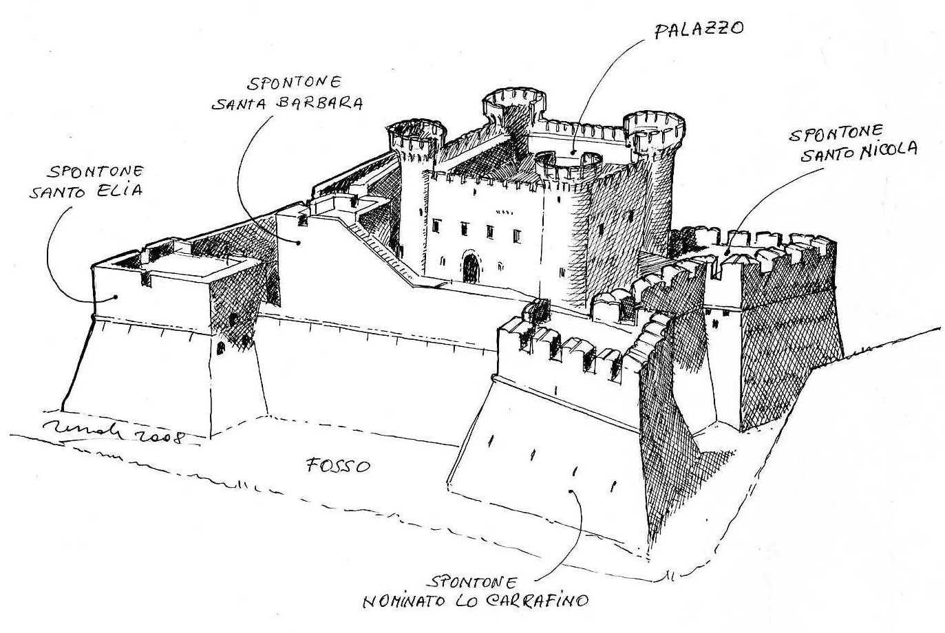 Santa Severina disegno castello