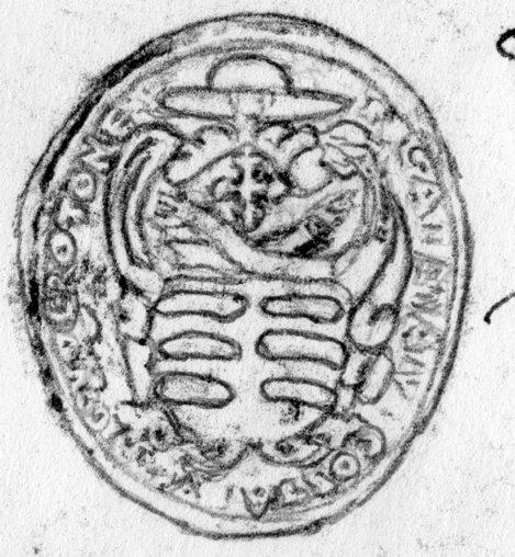 Sigillo del vescovo di crotone Gaetano Costa