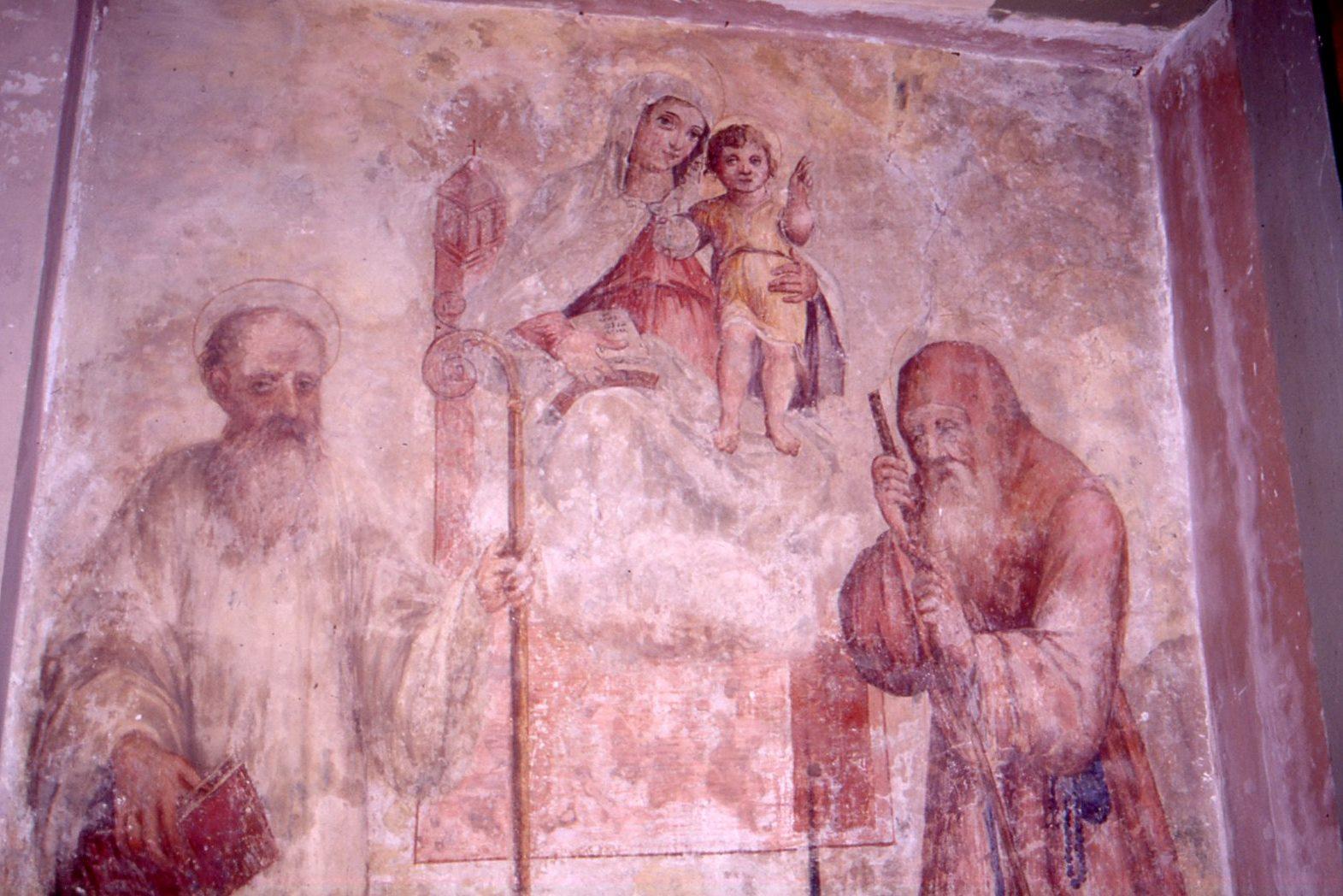 affresco santa severina Vergine con San Bruno e San Francesco di Paola