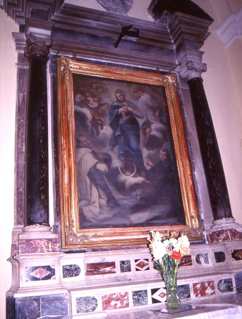 cappella dei Suriano .Vergine tra S. Bruno e S. Antonio