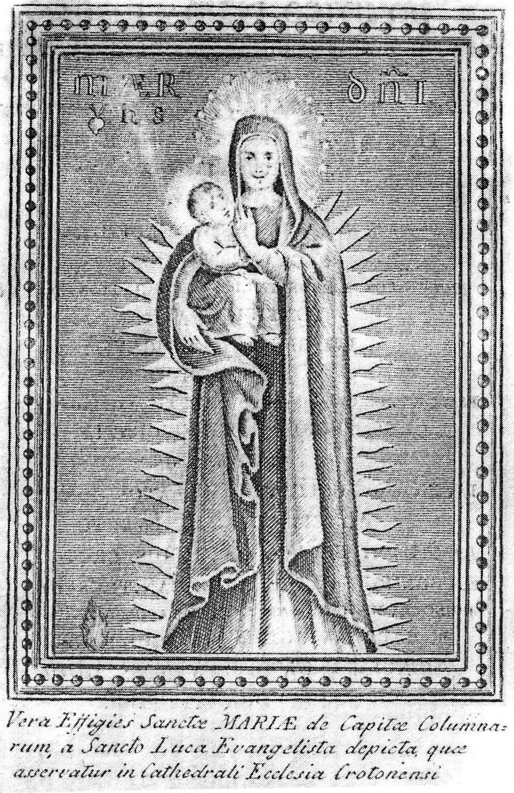 Quadro Madonna di Capocolonna Basoino
