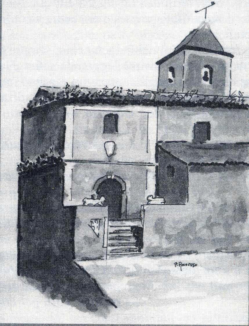 Foto n.6 Acquarello di P Amoruso, Ingresso chiesa san Giacomo001