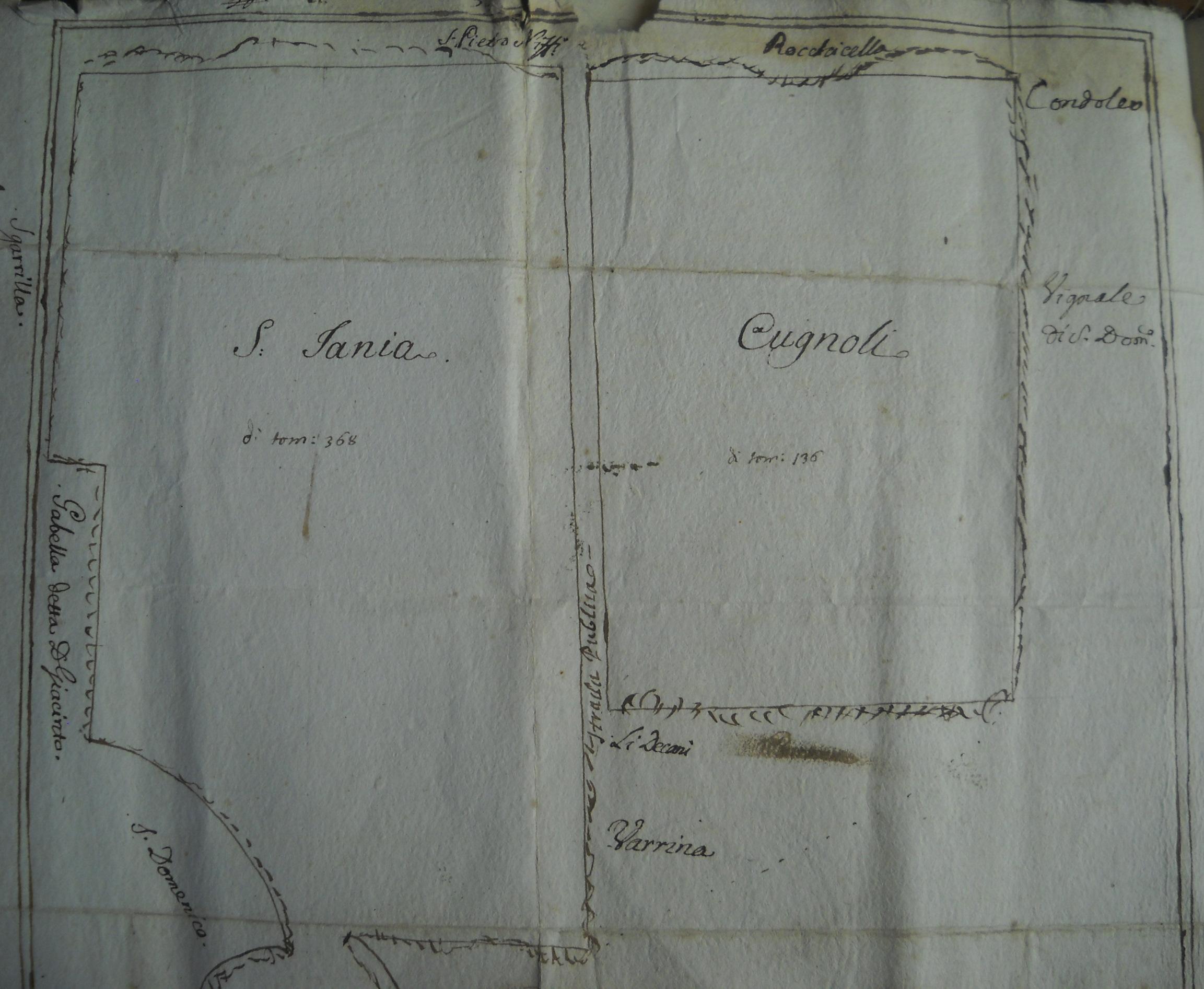 Confini della gabella di Lufrerio di Belcastro