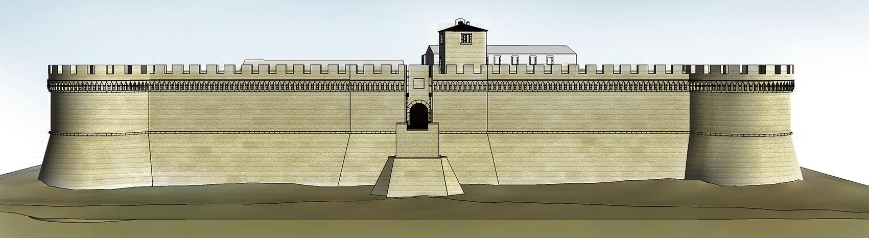 prospetto del castello di crotone enzo spagnolo