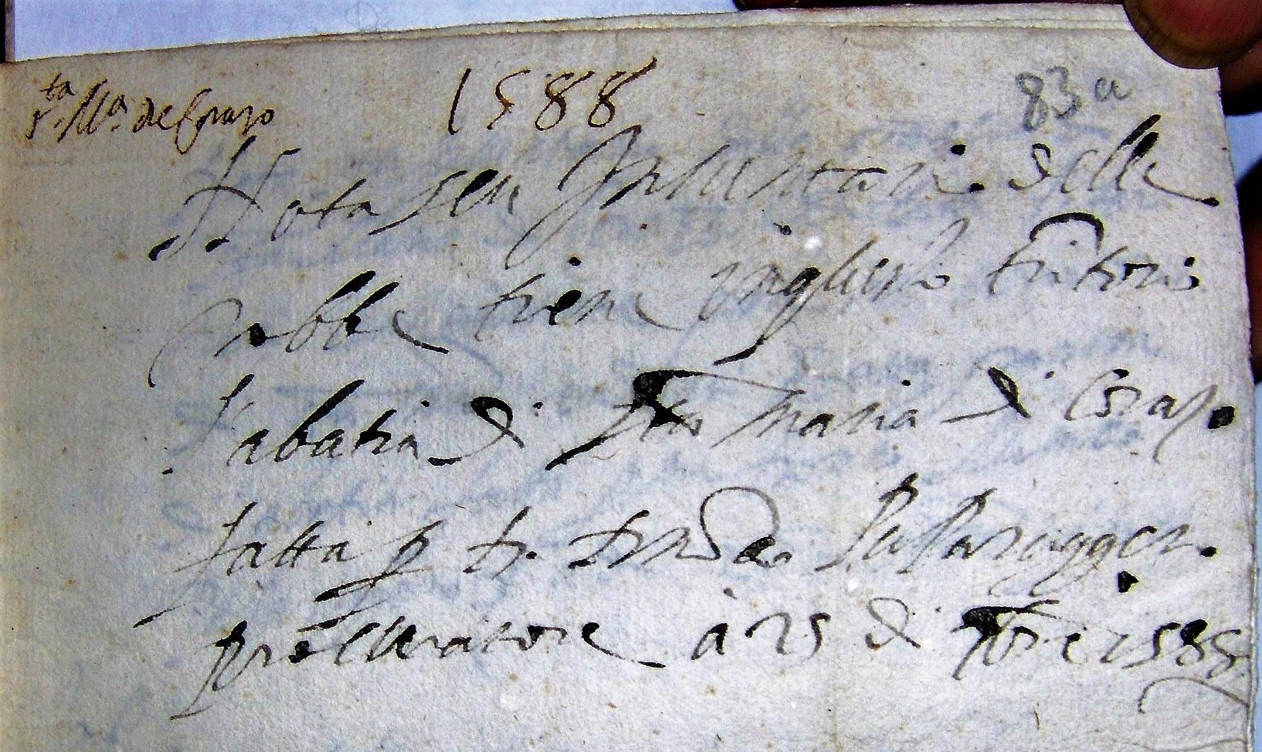 libretto s. maria di corazzo 1588
