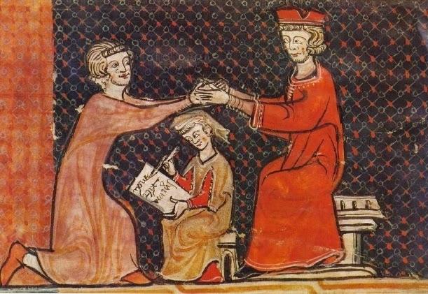 concessione feudale miniatura